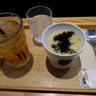 朝のおかゆセット 干し鱈(たら)と玉子の韓国粥(レギュラーカップ)(スープストックトーキョー CIAL桜木町店)