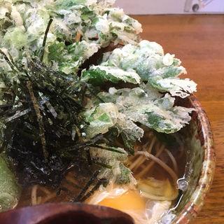 納豆そば(+春菊天)(はないち )