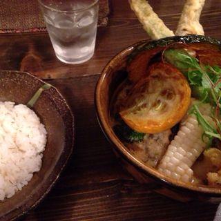 夏野菜カレー1辛(アスパラ天トッピング)(ソウルストア (SOUL STORE))
