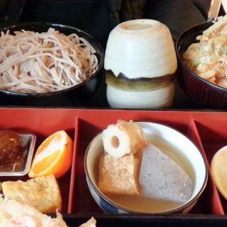 かき揚げ天丼セット (そば処吉咲 )
