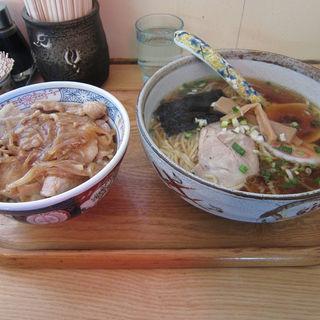 ラーメンバラ焼肉丼セット(たから亭 )