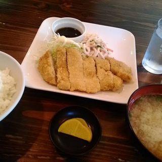 豚ロースかつ定食とうどんセット(たまや食堂 )