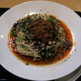 正宗担々麺(汁なしタンタン麺)黒ゴマ ごはん・漬物付(ダンダン亭 (だんだんてい))
