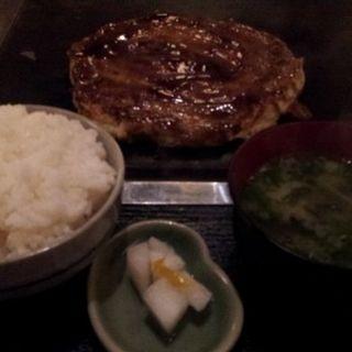 ワンコインランチ(ふわとろ豚お好み焼)(ちき家)