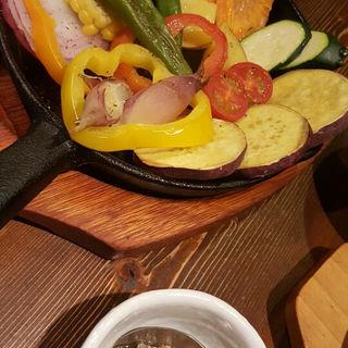 焼き野菜のバーニャカウダ(つきじ川食堂ひさ野 )