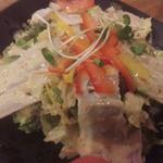 ごまたっぷり黒ブタ冷しゃぶサラダ(つくし)