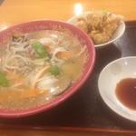 ちゃんぽん麺と唐揚げ(ラーメンパスポートメニュー)(つちや食堂 )