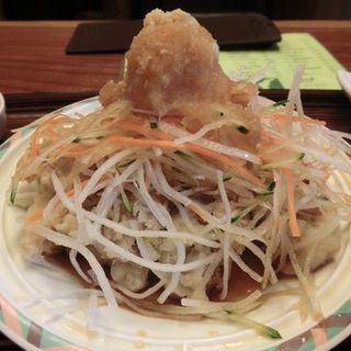 肉天定食(つるかめ食堂 歌舞伎町店 (つるかめしょくどう))