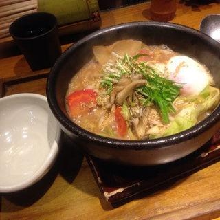 もち豚胡麻味噌のおうどん (つるとんたん 宗右衛門町店)