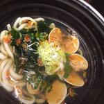 桜海老と春野菜のおうどん