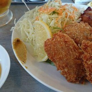 唐揚げとチキンカツのW定食(てっぱん屋台鈴木製作所 )