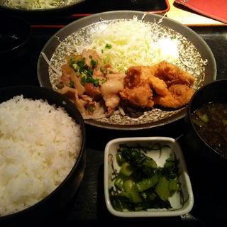 鶏の唐揚げ&豚の特製タレ焼き