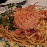 本日の貝類とチェリートマトソースのリングイネ
