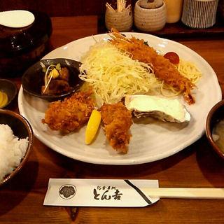 かき&エビフライ定食(とん吉 )