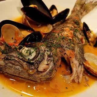 三重県伊勢志摩産黒むつのアクアパッツア(ザ フィッシュ アンド オイスターズ (The fish and oysters))