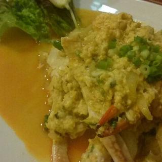 ワタリ蟹の卵炒め(サイアム)