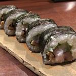 巻き寿司鯛、鯖きずし、穴子、たくあん