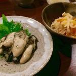 牡蠣のソテー、オイル漬け