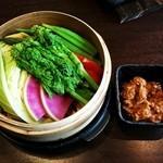 温野菜の鶏味噌バーニャカウダ