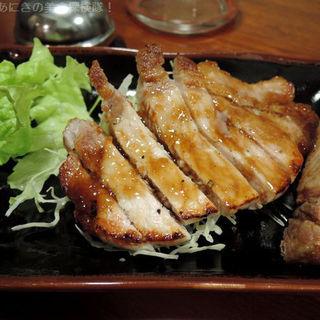 豚ロースのステーキ(しゃかりき )