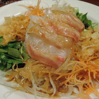 鯛のお刺身サラダ(しゃかりき )