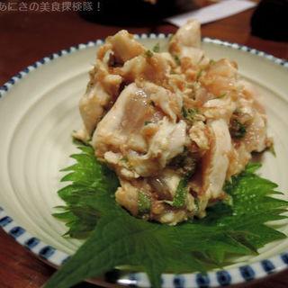 鶏のタタキ(しゃかりき )
