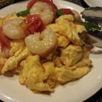 海老とトマトの卵炒め