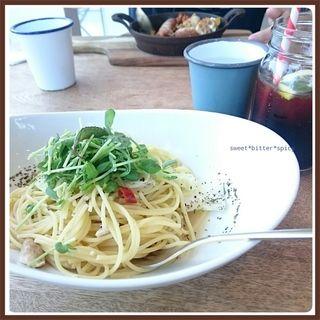 レモンチキングリルのペペロンチーノ(シロ カフェ 砂川本店 (shiro cafe))