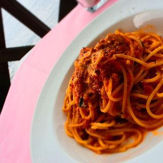 スパゲッティ・ボロネーゼ ひき肉とハーブのトマトソース(センプリチェ (SEMPLICE))