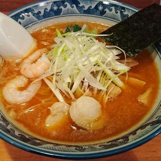 【鍋焼うどん】+【大えび天ぷら(単品)】(そば甚)