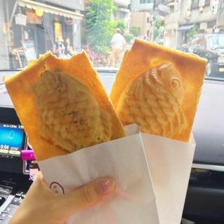 羽根付きたい焼き つぶあん&クリーム(たいやき神田達磨 恵比寿店)