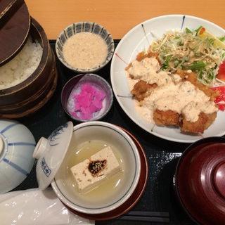 チキン南蛮定食➕とろろ(ためつ食堂 )