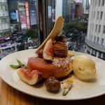 栗のクリームとイチジクのパンケーキ(デイビット・マイヤーズ カフェ (DAVID MYERS CAFE))
