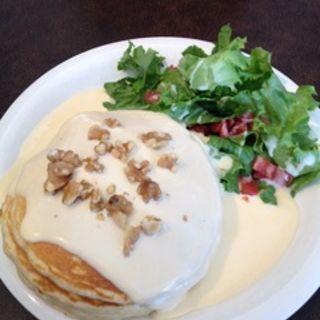 濃厚3種のチーズソースパンケーキ(テディーズ ビガーバーガー 横浜ワールドポーターズ店)