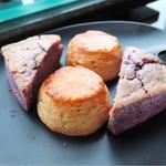 紫芋とプレーンスコーン