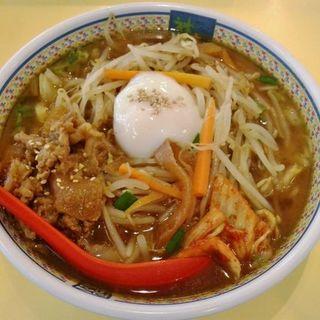 秋のピリ辛 牛カルビラーメン(どうとんぼり神座  香芝SA店 (かむくら))