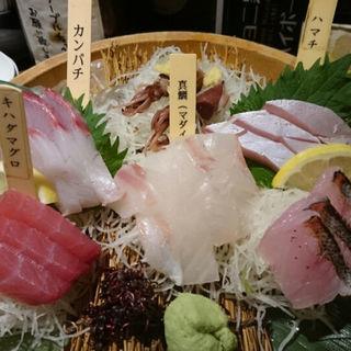 お刺身計六種盛り合わせ(とびっきり旨い酒と魚 東新漁港)