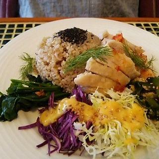 海南鶏飯 蒸し鶏ごはんエスニックプレート(トリノス食堂 )