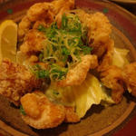 久米島赤鶏 皮揚げ