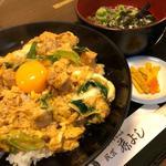 炙り鶏の親子丼定食