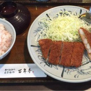 エビカツ定食(とんかつ百年亭 (ひゃくねんてい))
