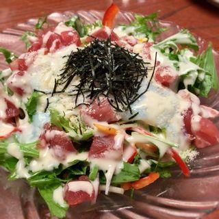 まぐろのシーザーサラダ(なごみ亭 (回転寿司))