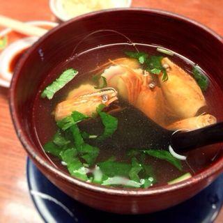 海老頭のすまし汁(なごみ亭 (回転寿司))
