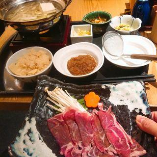 ヘルシーラム肉しゃぶしゃぶ定食(大かまど飯 寅福 丸の内iiyo!!店 )