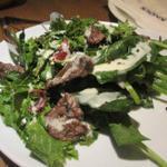 牛「ウチモモ」肉とほうれん草のサラダ 甘バルサミコ&マヨネーズソース