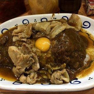 スタミナカレー(生玉子入り)+大盛(バーグ 杉田本店)