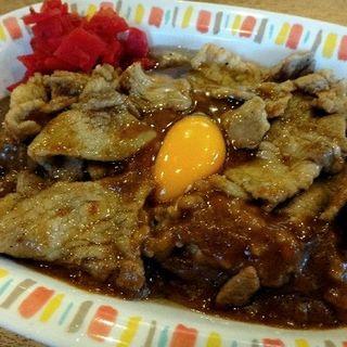 スタミナカレー(玉子焼き入り)(バーグ 浅田店)