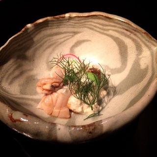 ピータン豆腐とハマグリの中華たまり醤油ソース  (はしづめ )
