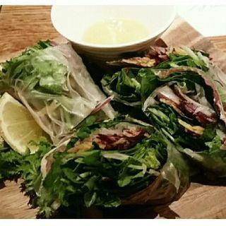オーガニク野菜とパルマ産生ハムの生春巻き(バズ ガーデン (BUZZ GARDEN))