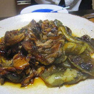 スッポンのせせり(首肉)とエンペラのガーリック醤油焼き(はせ川すっぽん料理 )